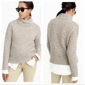 J. Crew Mockneck Italian Merino Wool Blend Sweater